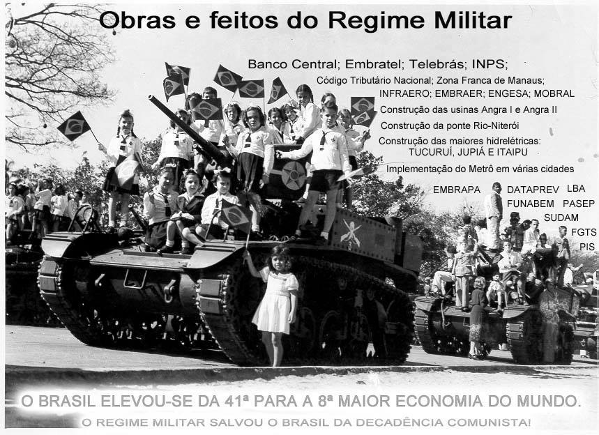 """Resultado de imagem para BRASIL BENEFÍCIOS """"REGIME MILITAR 1964"""""""