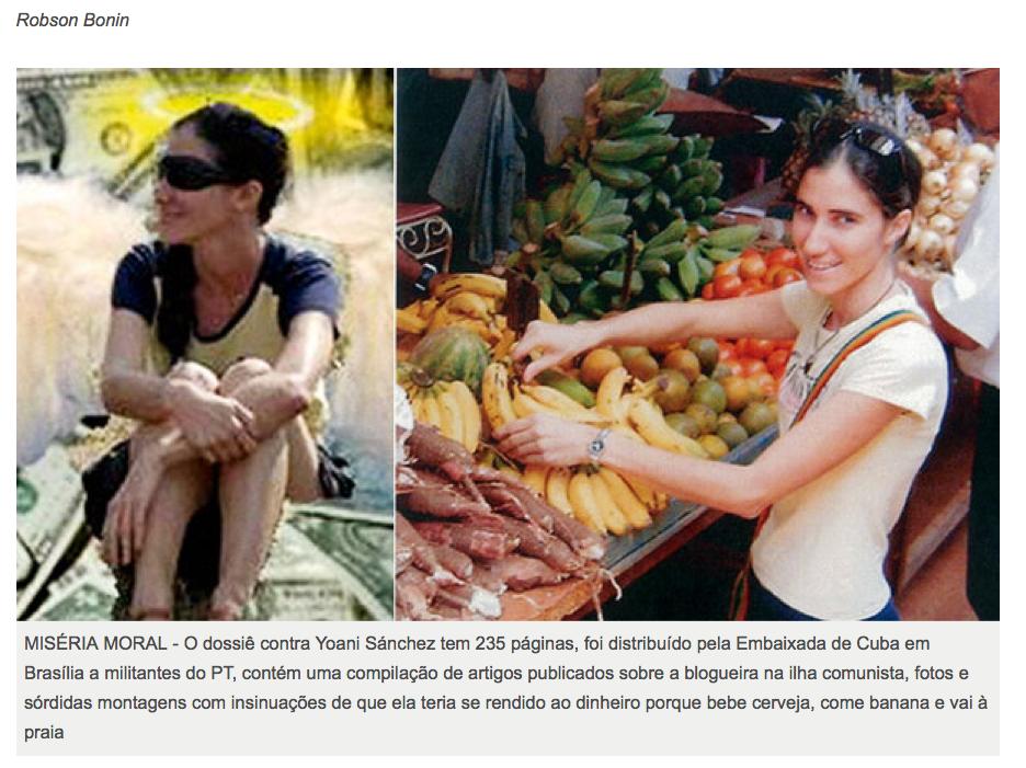 Resultado de imagem para Yoani Sanchez comprando bananas