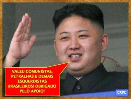 Ditador da Coréia do Norte agradece ao apoio do PT, da CUT e do MST