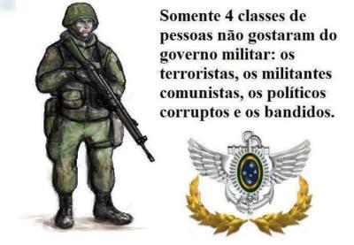 Resultado de imagem para governo militar