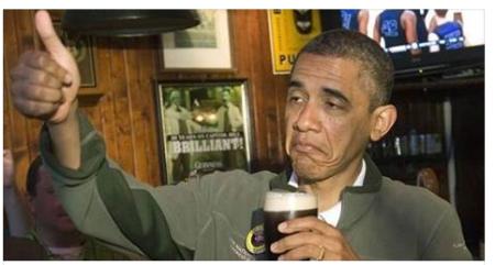 obama bebado