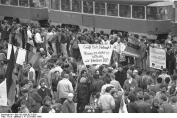 Dresden; Einwohner zur Kundgebung mit Helmut Kohl